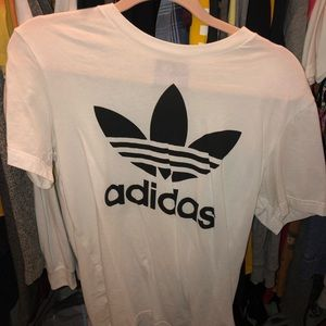 black&white adidas shirt size small